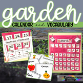 Garden Themed Calendar Pieces and Vocabulary Cards