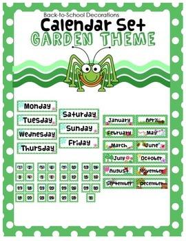 Garden Themed Calendar Set