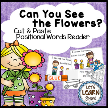 Spring Activities, Emergent Reader, (Cut and Paste Positional Words)