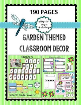 Garden Themed Classroom Décor Bundle (190 pages)