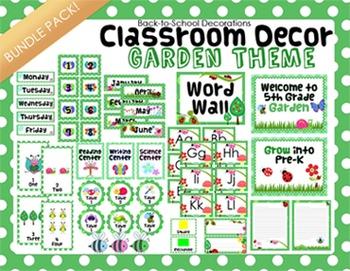 Garden Themed Classroom Decor Bundle Pack By Teaching