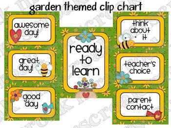 Clip Chart: Garden Themed