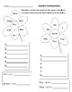 "Garden Themed ""Madlib"" letters and Contraction Worksheet"