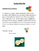 """Garden Themed """"Madlib"""" letters and Contraction Worksheet"""
