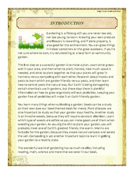 Garden Themed Nature Education Unit-Stage 2 (Magic Forest Academy)