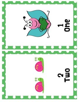 Garden Themed Number Posters (Numbers 1 to 20)