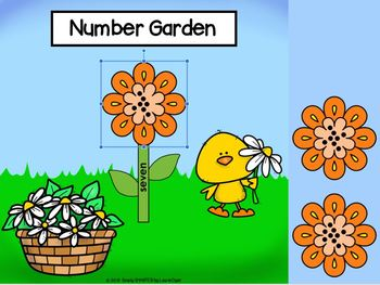 Garden Themed Number Sense Activities For GOOGLE CLASSROOM