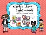 Garden Themed Sight Words: Colors and Numbers