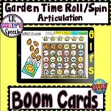 Garden Time Roll/Spin Articulation Activity (Multiple Speech Sounds)