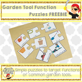 Garden Tool Puzzles FREEBIE