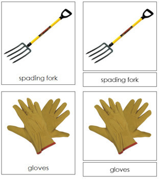 Garden Tools: 3-Part Cards