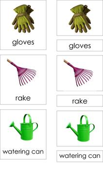 Garden Tools (3-Part Montessori Cards)