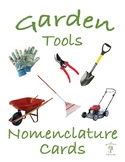 Garden Tools 3 Part Nomenclature Cards with Real Pictures