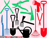 Garden Tools clipart agriculture FARM equipment nature svg spring summer  -594s