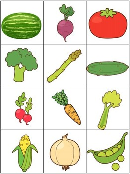 LIFE SKILL MATCHING TASK Garden Vegetables
