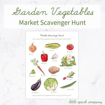 Garden Vegetable Market Scavenger Hunt