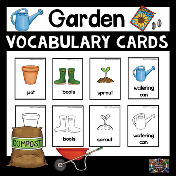 Garden Vocabulary Picture Cards