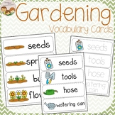 Garden Vocabulary Word Wall Cards plus Write & Wipe Version
