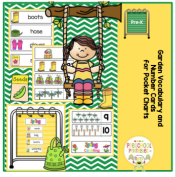 Garden Vocabulary and Number Cards