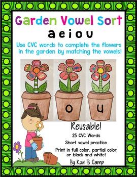 Garden Vowel Sort {Short Vowel Practice}