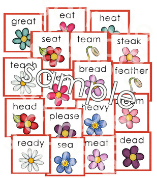 Garden Vowel Word Sort File Folder Game