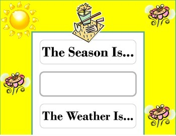Garden Weather Chart! Garden Bulletin Board! Garden Theme! Garden Decor!
