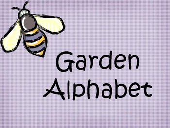Garden Word Wall Alphabet