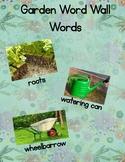 Garden Word Wall Words