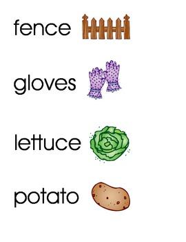 Garden World Wall/Vocabulary Words