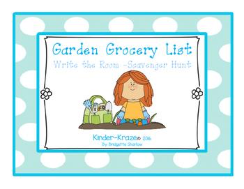Garden Write The Room- Scavenger Hunt