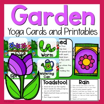 garden yoga cards and printablespink oatmeal movement