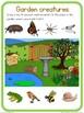 Garden creatures circle time questions