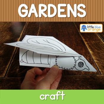 Garden creatures  craft - origami birds and bugs