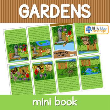 Garden creatures mini book