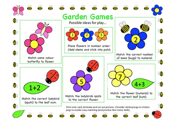 Garden friends maths games
