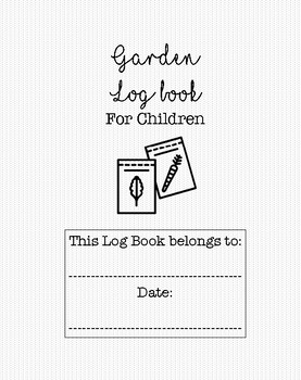Garden log book for children