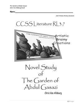 Garden of Abdul Gasazi, Novel Study for CCSS RL 3.7