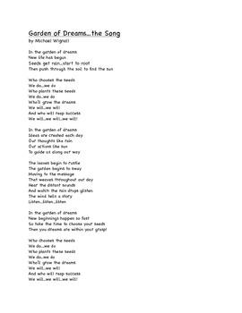 Garden of Dreams Song: A song to accompany Garden of Dreams story