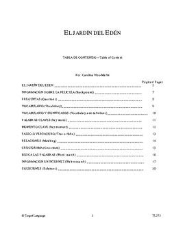 Garden of Eden-Spanish Study Guide