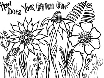 Garden of Flowers coloring sheet