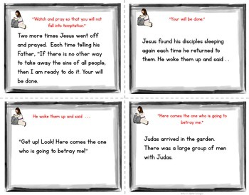 Garden of Gethsemane Interactive Reading Cards