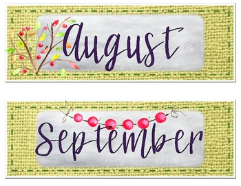 Garden-themed Calendar