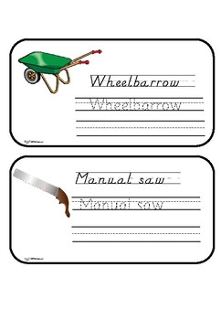 Garden tools to read and write