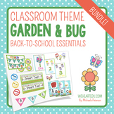 Garden/Bug Themed Classroom Decor & Back-to-School Essentials {Editable}