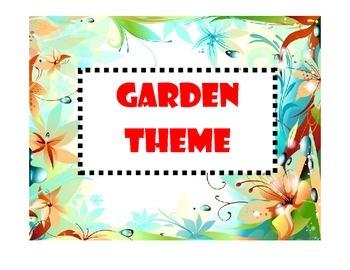 Garden/Flower Classroom Theme