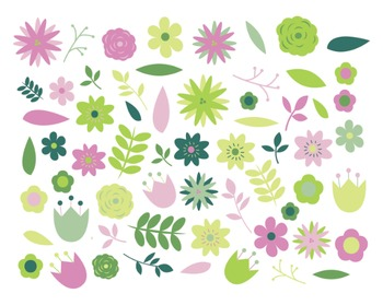 Gardenia Flower Clipart, Digital Design, Flower Set #012