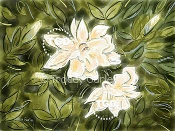 Gardenias, Gardenia digital download, Gardenia Printable Tracey Gurley Designs