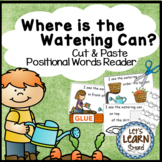 Garden Emergent Reader, Positional Words ,Cut and Paste Activities Reader