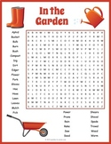 Gardening Word Search Puzzle