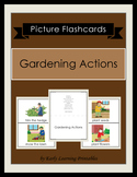 Gardening Actions Picture Flashcards